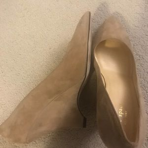 Kate spade sexy wedge nude size 10